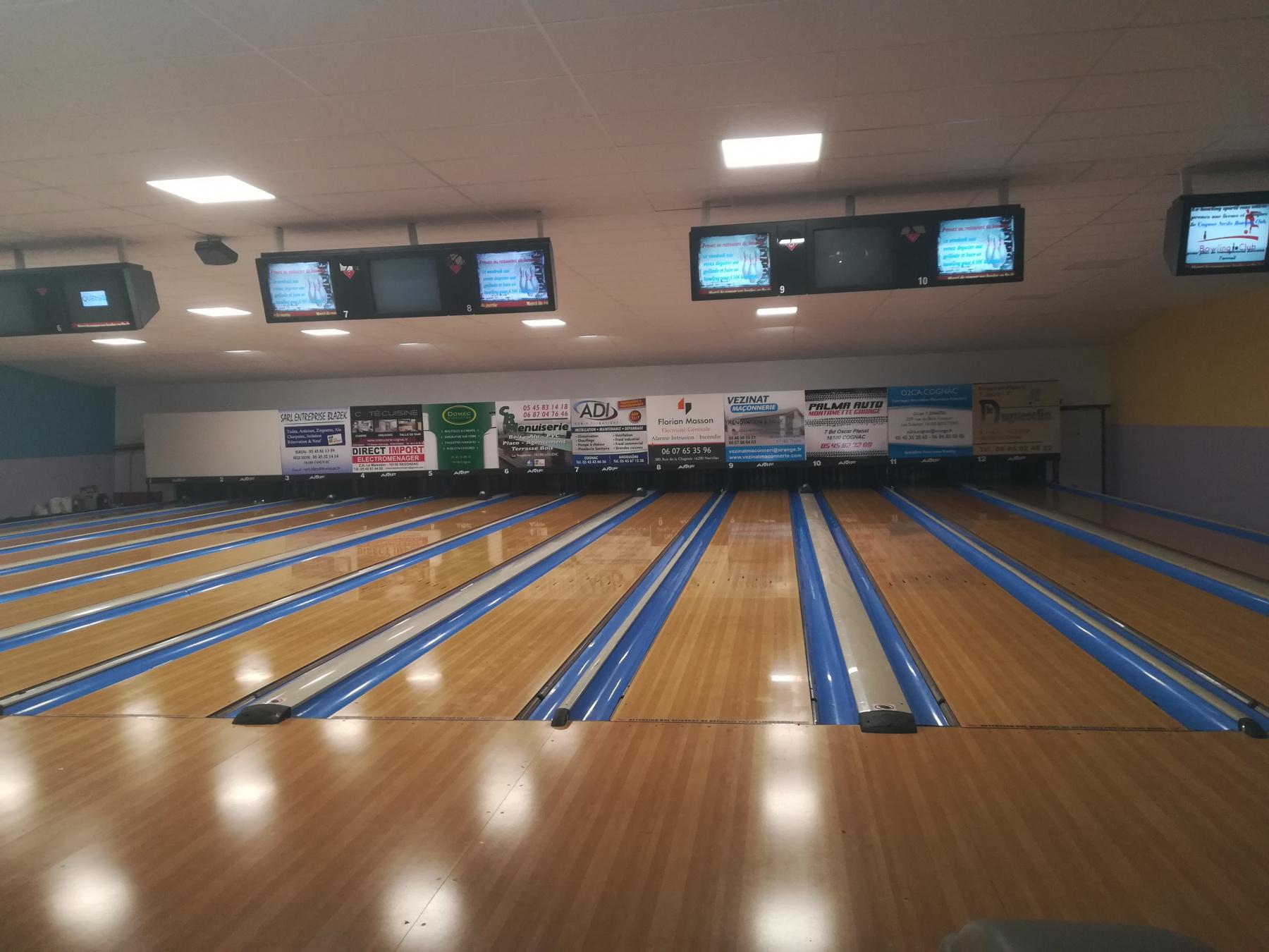 Bowling de Cognac : 12 pistes de bowling !!
